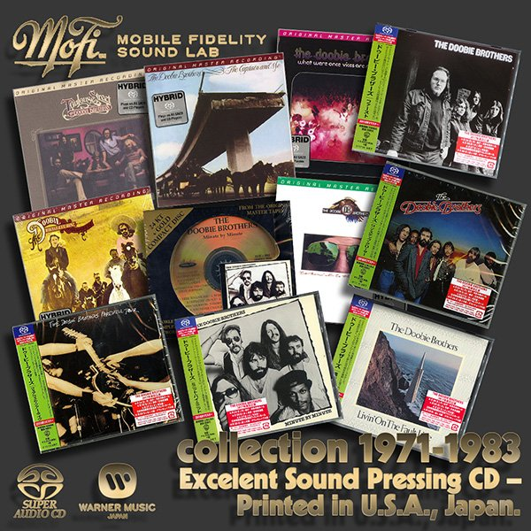 THE DOOBIE BROTHERS «Discography on SACD» – (10 x SACD + bonus • WEA International Ltd. • 1971-1983)