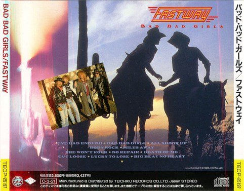 Fastway - Bad Bad Girls (1990) [Japan Press]