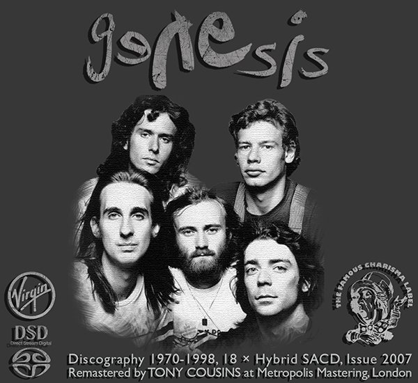 GENESIS «Discography 1970-1998» (18 × SACD • Charisma Records Limited • Remastered 2007)