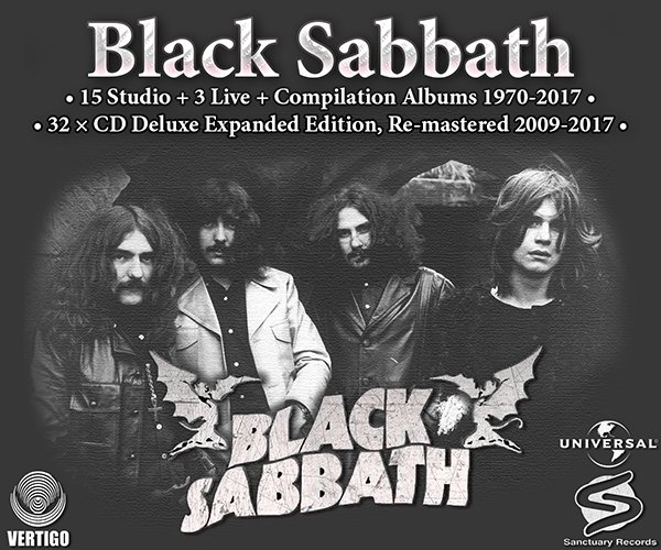 BLACK SABBATH «Discography 1970-2017» (32 x CD • Deluxe Expanded Edition • Issue 2009-2017)