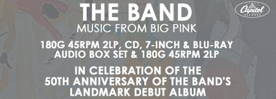 The Band: 1968 Music From Big Pink - 5-Disc Box Set Capitol Records 2018