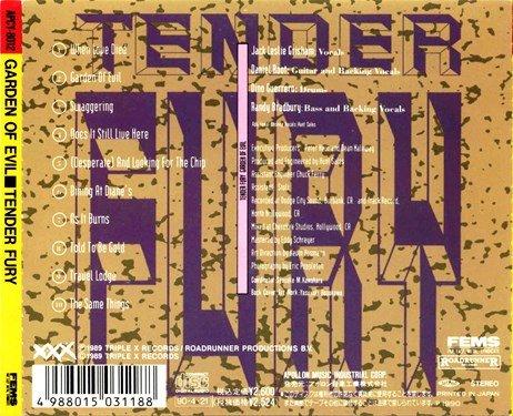 Tender Fury - Garden Of Evil (1990) [Japan Press]