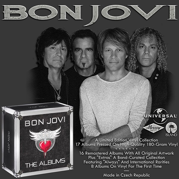 BON JOVI «The Albums» (25 x LP • Box-set 17 albums Island Records Remastered • Issue 2017)