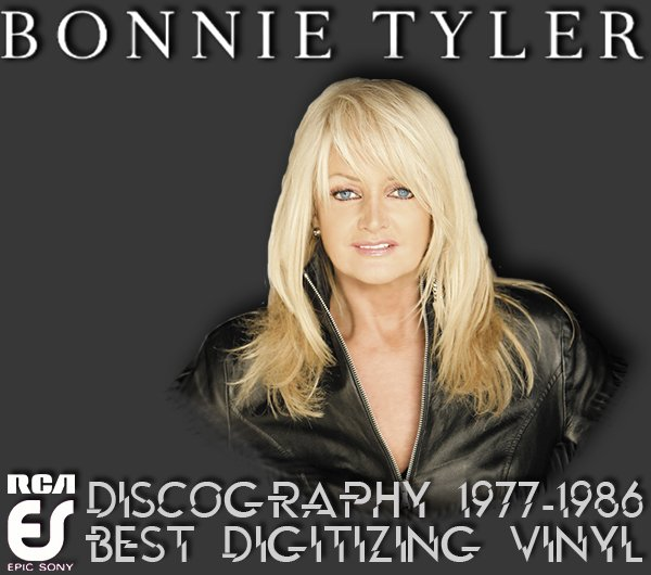 BONNIE TYLER «Discography on vinyl» (5 x LP • RCA Japan Limited • 1977-1986)