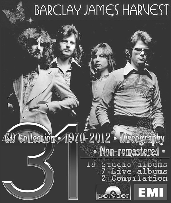 BARCLAY JAMES HARVEST ?Discography 1970-2012? (31 x CD ? 27 albums ? Issue 1983-2012)