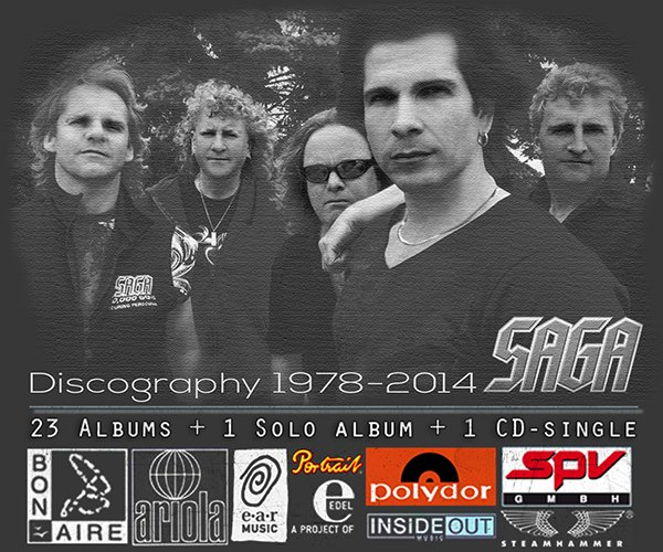 SAGA ?Discography 1978-2014? (25 x CD ? Bon Aire/Black Hole Ltd. ? Issue 1982-2014)