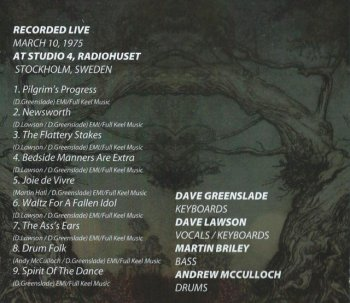 Greenslade - Live in Stockholm, March 10th, 1975 (2013)
