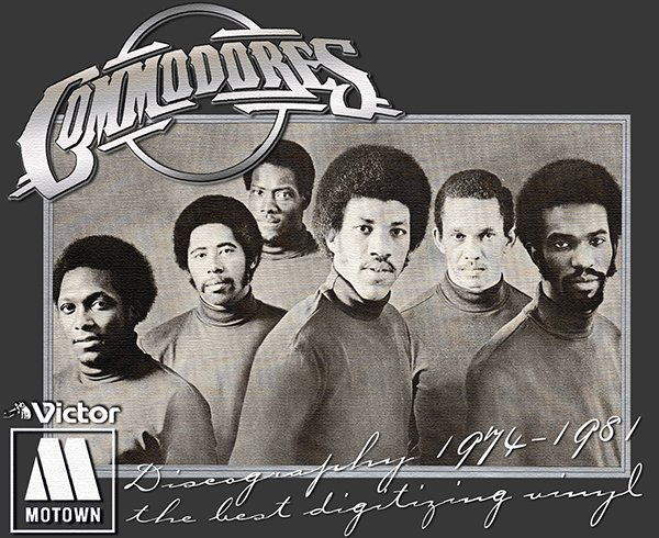 COMMODORES «Discography on vinyl» (4 x LP • Motown Record Corporation • 1974-1981)