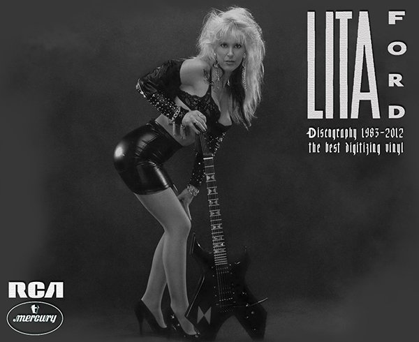LITA FORD «Discography on vinyl» (8 x LP • PolyGram Limited • 1983-2012)