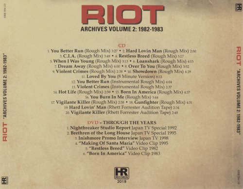 Riot - Archives Volume 2: 1982-1983 (2019)
