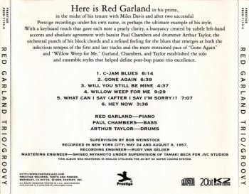Red Garland Trio - Groovy (1957) (Remastered, 1999)