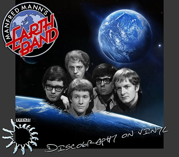 MANFRED MANN'S EARTH BAND «Discography on vinyl» (14 x LP • Bronze Records Ltd. • 1967-2014)