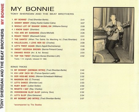 Tony Sheridan And The Beat Brothers - My Bonnie (1962) [Reissue 2001]