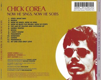 Chick Corea - Now He Sings, Now He Sobs (1968) (Remastered, 2002)