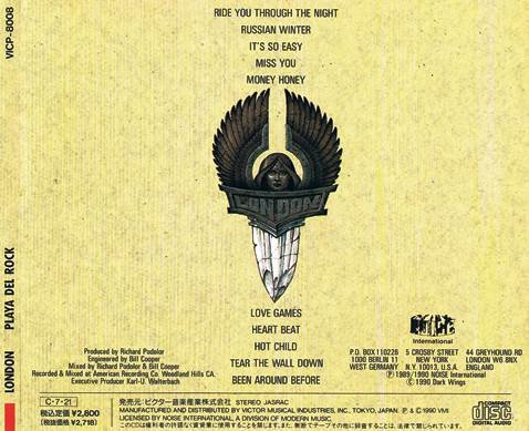 London - Playa Del Rock (1990) [Japan Press]