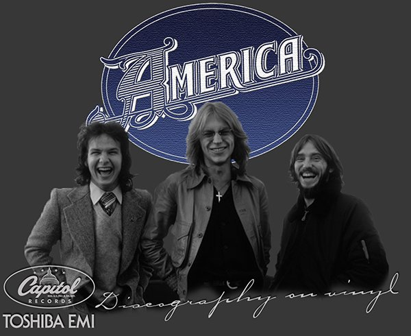 AMERICA «Discography on vinyl» (3 x LP • Toshiba-EMI Ltd. • 1982-1984)
