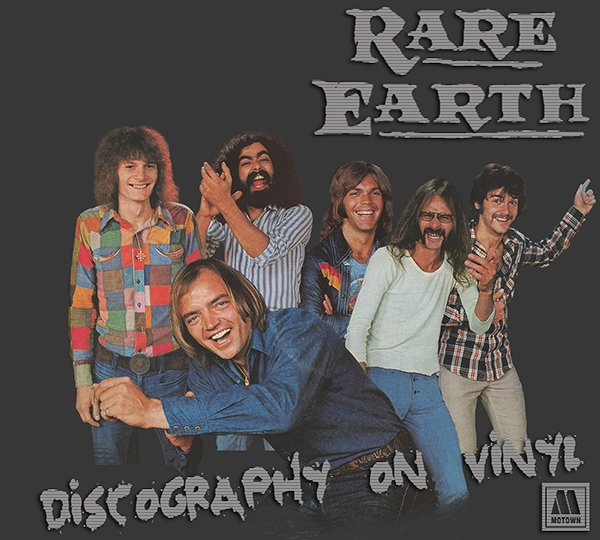 RARE EARTH «Discography on vinyl» (8 x LP • Motown Records Ltd. • 1969-1978)