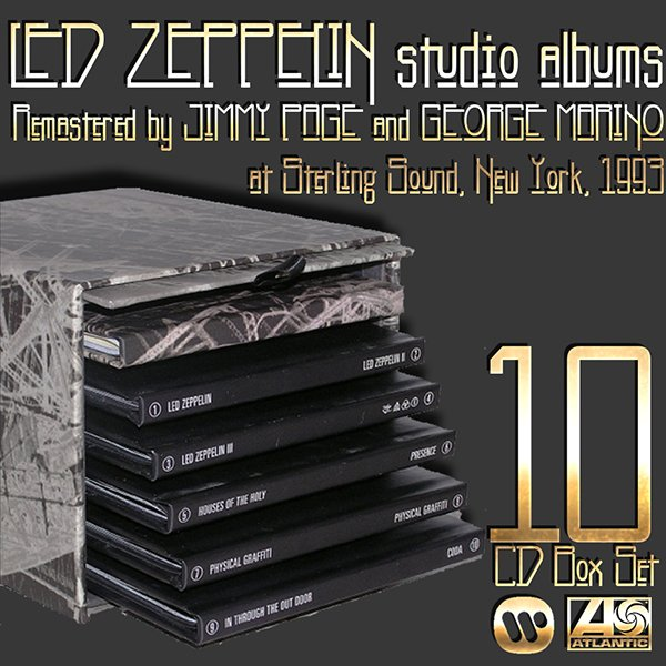 LED ZEPPELIN «The Complete Studio Recordings» – (US 10 x CD Remastered 1993 Atlantic • 7 82526-2)