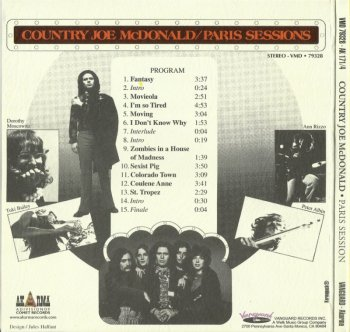 Country Joe McDonald - Paris Sessions (1973) (1996)