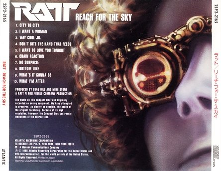 Ratt - Reach For The Sky (1988) [Japan 1-st Press + Remast. 2015]