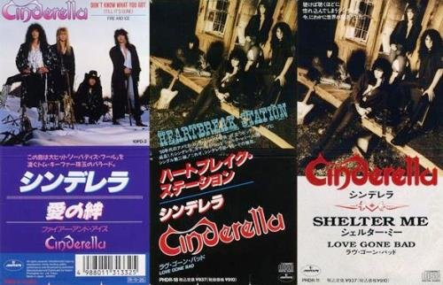 Cinderella - Don't Know What You Got / Shelter Me / Heartbreak Station (1988 / 1990 / 1991) [3CDS Japan Press]