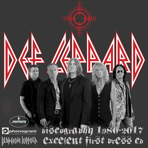 DEF LEPPARD «Discography» (27 x CD • Bludgeon Riffola Limited • 1980-2017)