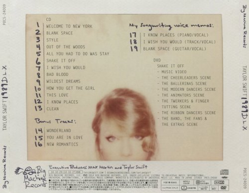 Taylor Swift - 1989 D.L.X. [Japanese Edition] (2014)