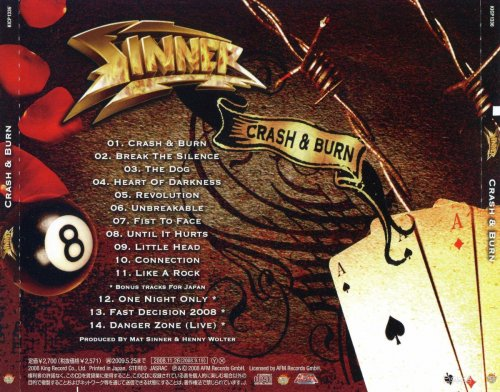 Sinner - Crash & Burn [Japanese Edition] (2008)