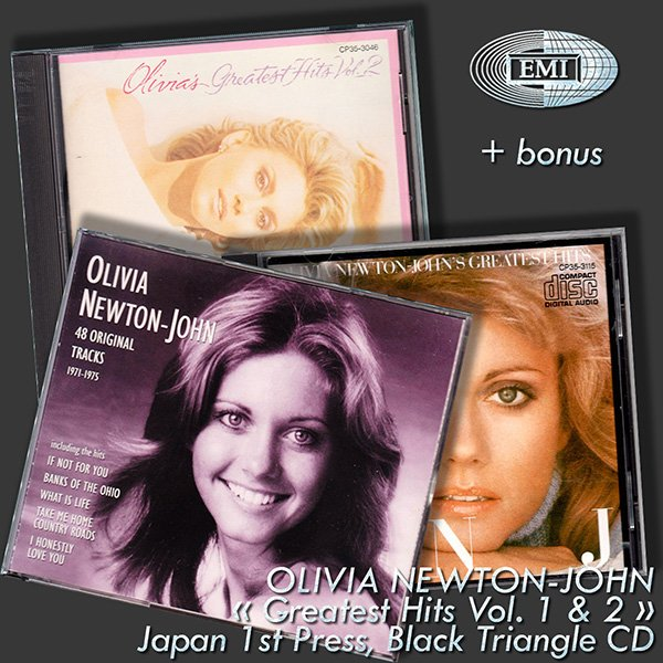 OLIVIA NEWTON-JOHN «Greatest Hits Volume 1 & 2» + bonus (4 x CD • TOSHIBA-EMI LTD., JAPAN • 1983-1994)