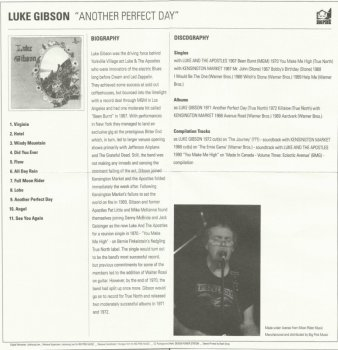Luke Gibson - Another Perfect Day (1971) Korean remaster (2010)