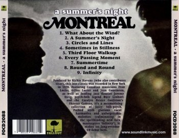 Montreal - A Summer's Night (1970) [Reissue, 2008]