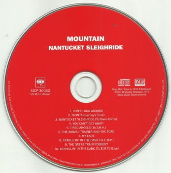 Mountain - Nantucket Sleighride (1971) [Blu-Spec CD2, Japan Remastered, 2013]
