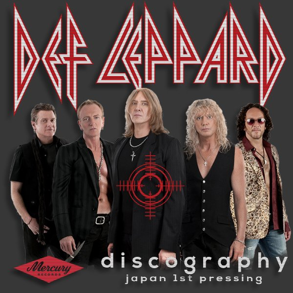 DEF LEPPARD «Discography 1980-2018» (13 x CD • Japan 1st Press • Issue 1987-2018)