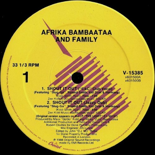 Afrika Bambaataa And Family - Shout It Out (Vinyl, 12'') 1988