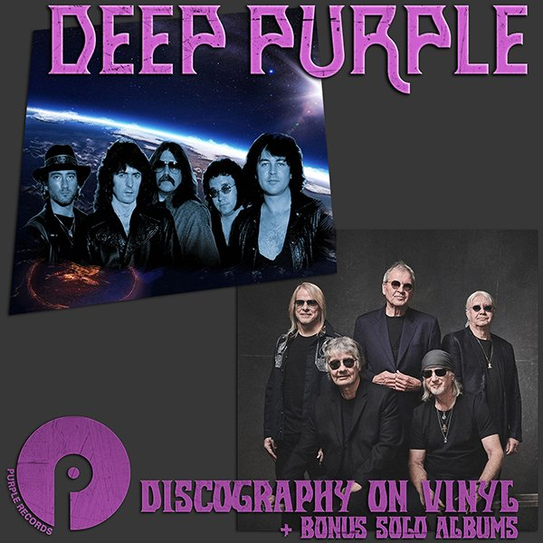 DEEP PURPLE «Discography + solo» (59 x LP • Best Digitizing Vinyl • 1968-2020)