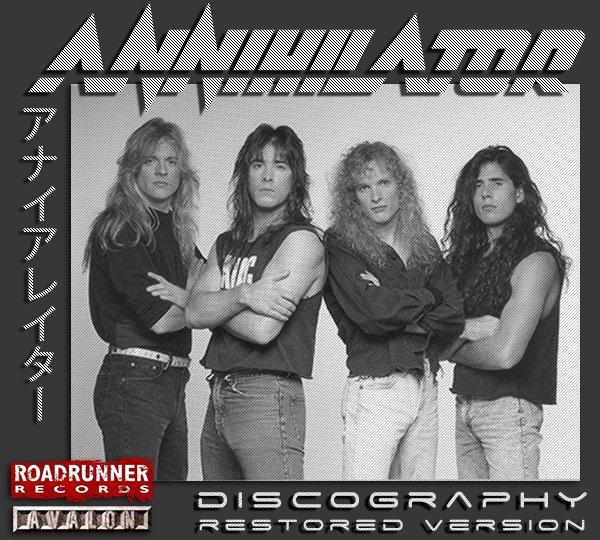 ANNIHILATOR «Discography» (19 x CD • Restored version • 1989-2020)