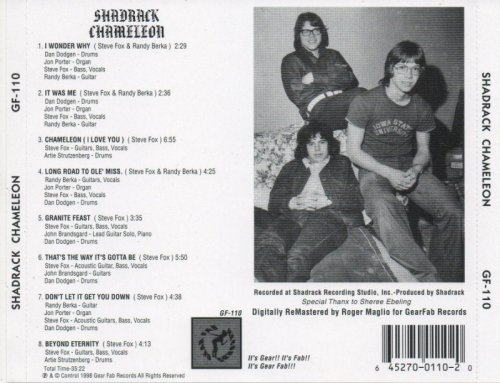 Shadrack Chameleon - Shadrack Chameleon (1973) (1998)