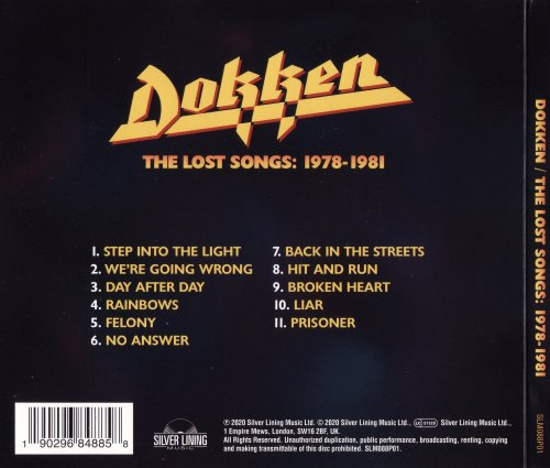 Dokken - The Lost Songs: 1978-1981 (2020)