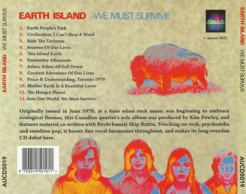 Earth Island - We Must Survive (1970) (Reissue, 2012)