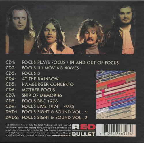 Focus – 50 Years Anthology 1970-1976 (2020) 9CD Box Set [WEB]